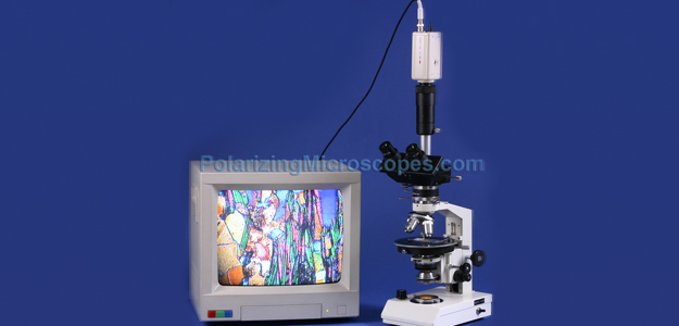 40X – 400X COMPOUND TRINOCULAR POLARIZING GEOLOGICAL MICROSCOPE W/ BERTRAND LENS